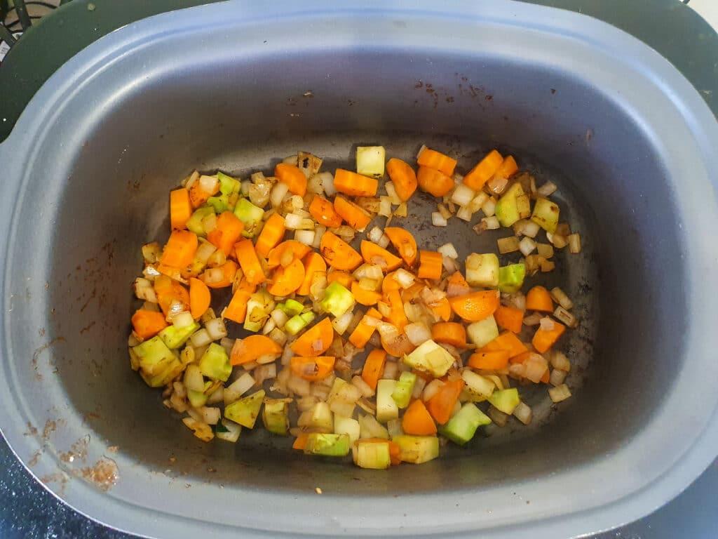 Softened veggies.